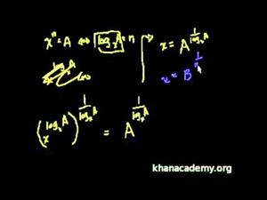 Propiedades del logaritmo 3 (Khan Academy Español)