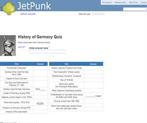 History of Germany Quiz