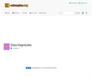 Sopa Magnitudes (educaplus.org)