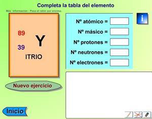 Juegos de química: La tabla de elementos