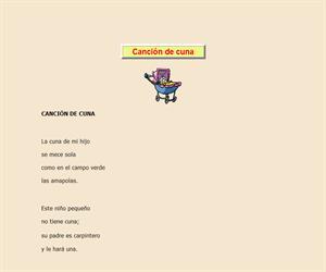 Canción de cuna (I), lectura comprensiva interactiva