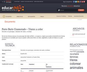 Perro Berto Enamorado - Títeres a color (Educarchile)