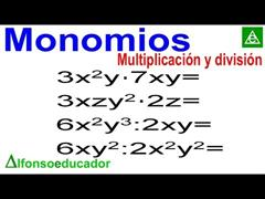 Multiplicación y división monomios. Método efectivo.