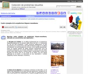 Cuatro ejemplos de la arquitectura hispano-musulmana. (Selectividad.tv)