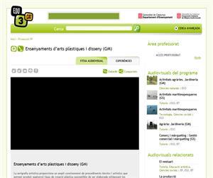 Ensenyaments d'arts plàstiques i disseny (GM) (Edu3.cat)