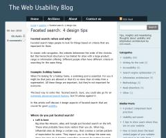 Faceted search: 4 design tips - The Web Usability Blog