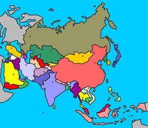 Mapa interactivo de Asia: países y capitales (luventicus.org)