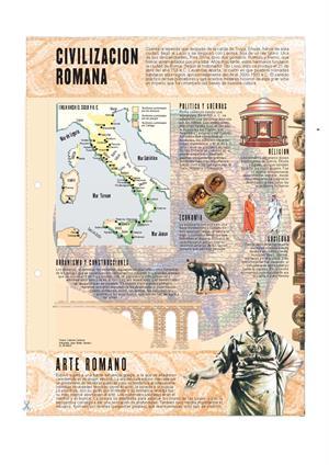 Civilización romana. Láminas de El Mundo