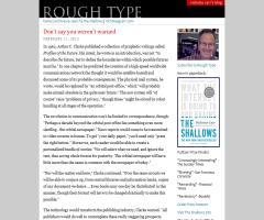 Blog de Nicholas Carr