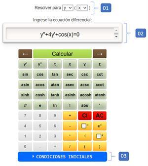 Calculadora de Ecuaciones Diferenciales online