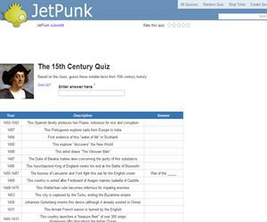 The 15th Century Quiz
