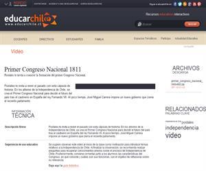 Primer Congreso Nacional 1811 (Educarchile)
