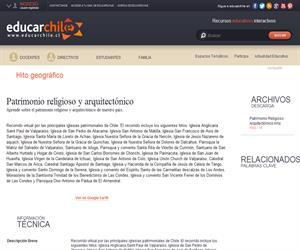 Patrimonio religioso y arquitectónico (Educarchile)