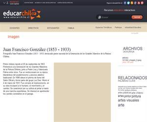 Juan Francisco González (1853 - 1933) (Educarchile)