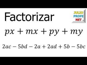 Factor común por agrupación de términos.