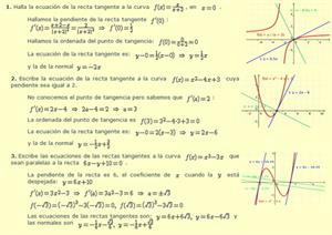 Aplicaciones de la derivada - 1º Bach