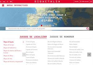 Mapas Interactivos para aprender Geografía de: Didactalia, Juegos geográficos, Toporopa,... (mapasinteractivos.net)