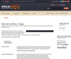Show de los libros. Colegio (Educarchile)