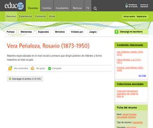 Vera Peñaloza, Rosario (1873-1950)