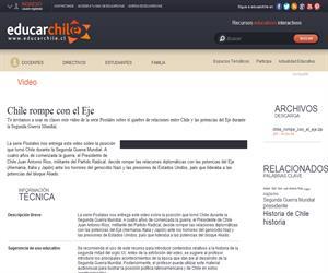 Chile rompe con el Eje (Educarchile)