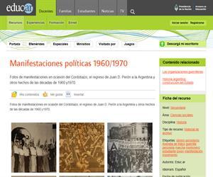 Manifestaciones políticas 1960/1970