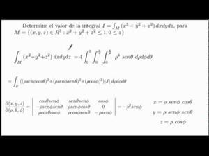 Integral Triple pasando a coordenadas esféricas. Cibermatex