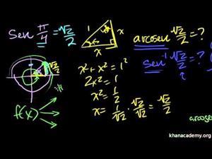 Funciones trigonométricas inversas. EL arcocoseno (Khan Academy Español)