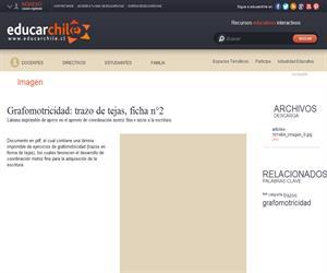 Grafomotricidad: trazo de tejas n°2 (Educarchile)