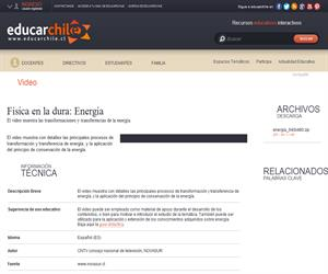 Física en la dura: Energía (Educarchile)