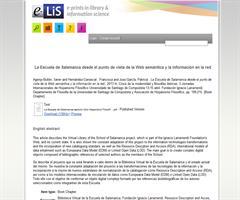 La Escuela de Salamanca desde el punto de vista de la Web semántica y la información en la red