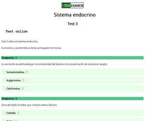 Test (3): sistema endocrino