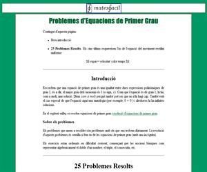 Problemes d'Equacions