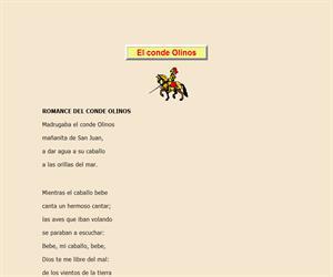 El conde Olinos, lectura comprensiva interactiva