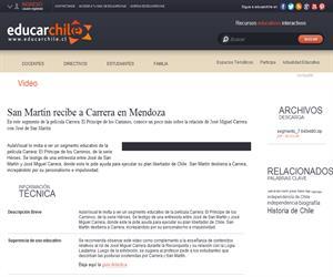 San Martín recibe a Carrera en Mendoza (Educarchile)