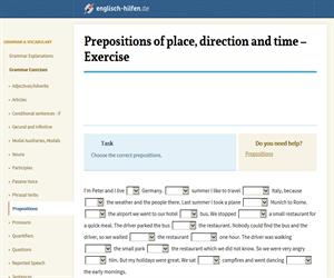 Prepositions of place, direction and time (englisch-hilfen.de)