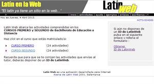 Actividades de Latín en la web (Bachillerato)