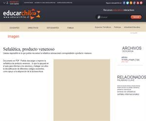 Señalética, producto venenoso (Educarchile)