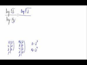 División con logaritmos