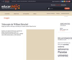 Telescopio de William Herschel (Educarchile)