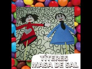 TEATRO🎭: TÍTERES para niños o manualidades CON MASA DE SAL