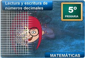 Lectura y escritura de números decimales (Cuadernia)