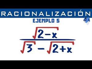 Racionalización de denominadores | Ejemplo 5 Binomio