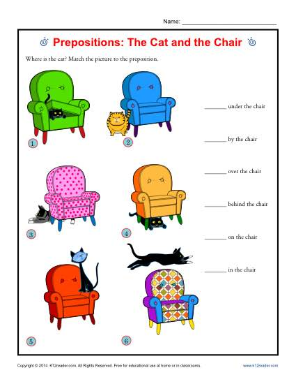 Prepositions: The Cat and the Chair