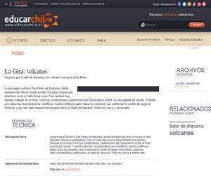 La Gira: volcanes (Educarchile)