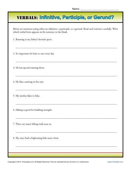 Verbals: Infinitive, Participle or Gerund?