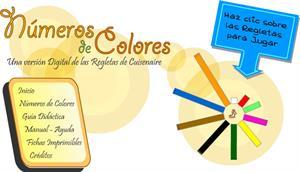 Números de Colores. Versión Digital Regletas Cuisenaire.