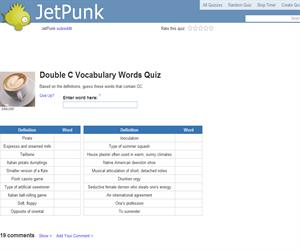 Double C Vocabulary Words Quiz