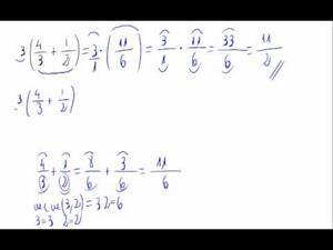 Operación con fracciones - Propiedad distributiva