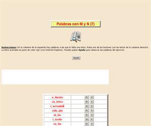Palabras con M y N (VII), ortografía interactiva