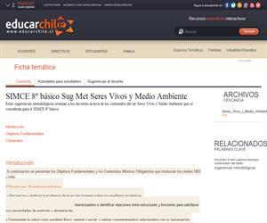 SIMCE 8º básico Sug Met Seres Vivos y Medio Ambiente (Educarchile)